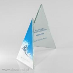 Szklana plakieta, nagroda w zawodach narciarskich