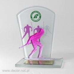Statuetka z narciarzem