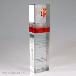 Słupek szklany z grawerem i flagą polski | eksklusive