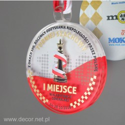 Sklenená medaila MED-11