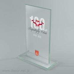 Glass patriotic plaque S1-65