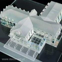 Miniatura hotelu wykonana...