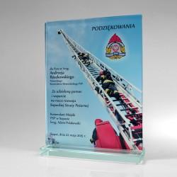 Pamiątkowa statuetka straż pożarna