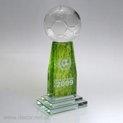 Szklana statuetka z piłką...