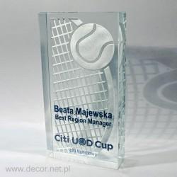 Glass awards for tennis...