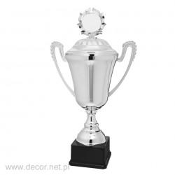 Puchar metalowy srebrny z...