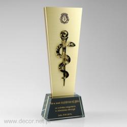 Statuetka metalowa wąż...