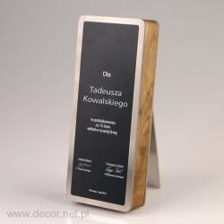 Statuetka dyplom drewniano...