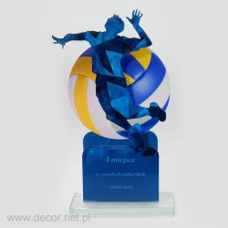 Statuetka akrylowa - siatkarska PLX-01