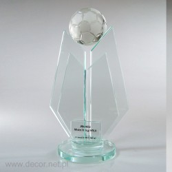 Statuetka szklana piłkarska...