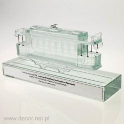 Glass miniature of the...