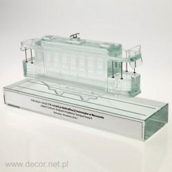 Szklana miniatura tramwaju...